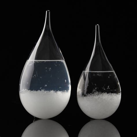 glass weather storm water crystal shape forecast predicting drops drop bottle rainstorm gift decor christmas decoration ornament crafts