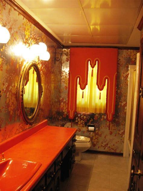 modern house orange bathroom  modern designs