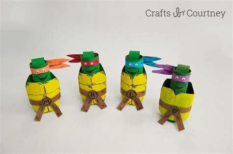 kids craft tmnt toilet paper roll finger puppets