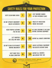 Vintage Workplace Safety Rules