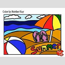 Free End Of Year Color By Number (summer Thememultiplication Facts