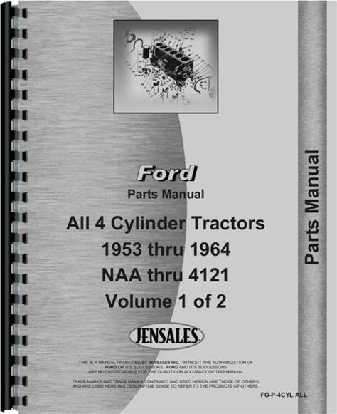 ford  industrial tractor parts manual