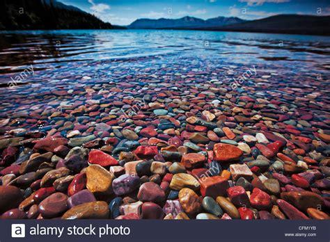 colorful rocks colorful rocks on lake mcdonald in glacier national park