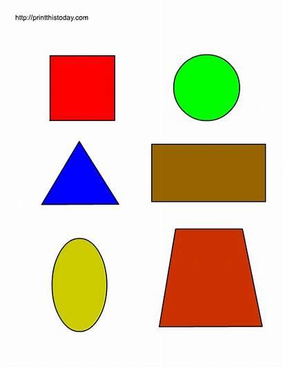 Shapes Printable Preschool Basic Worksheets Clipart Clip