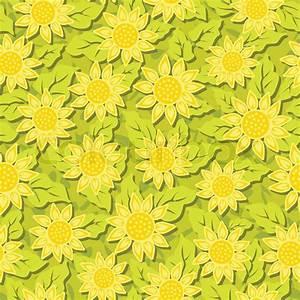 Sunflower flower seamless background   Stock Vector ...