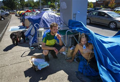 downtown homeless protest camp persists news