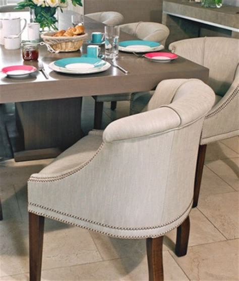 low back dining chair make smaller rooms look not so