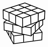 Cube Coloring 29kb sketch template
