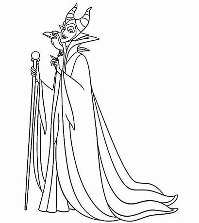 Maleficent Coloring Pages Disney Sleeping Beauty Setting