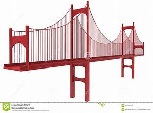 Suspension Bridge Illustration Stock Illustration