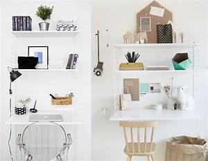 Idee Deco Avec Des Photos : 20 inspirations pour un petit bureau joli place ~ Zukunftsfamilie.com Idées de Décoration