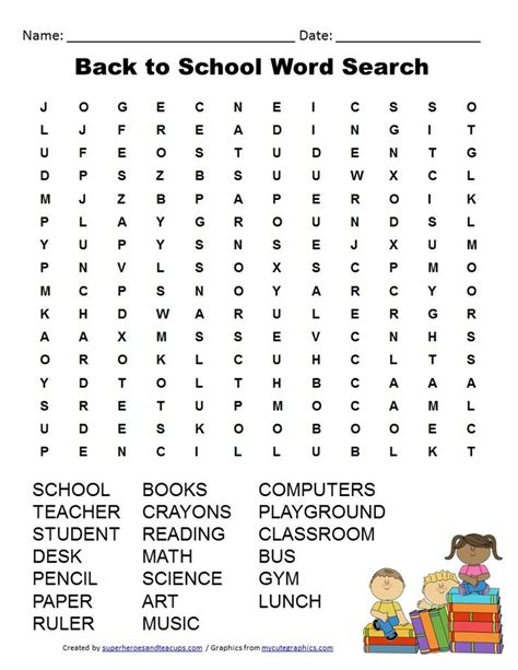 back to school word search 2nd grade free 3rd grade back