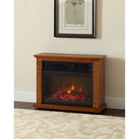 electric heater fireplace hton bay cedarstone 29 in 3 element mantel infrared