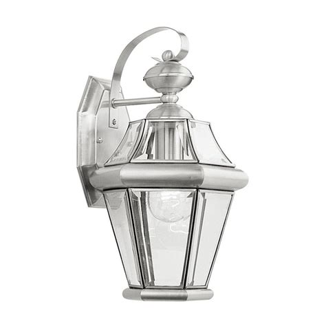 shop livex lighting georgetown 15 in h brushed nickel