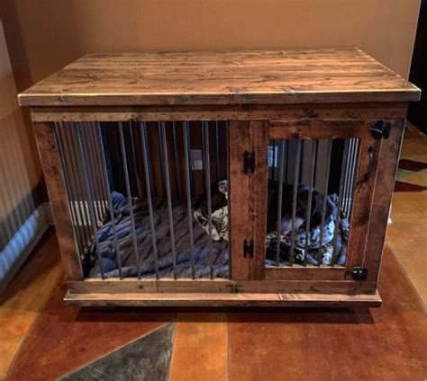 Custom Dog Kennel Crate  Coffee Or Entry Table Dual