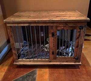 custom dog kennel crate coffee or entry table dual With custom made dog kennels
