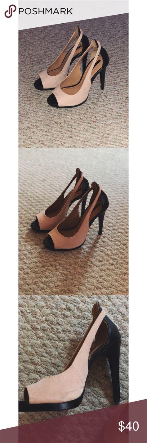 Zara Heels Beautiful Peep Toe Heels Worn Only Once As