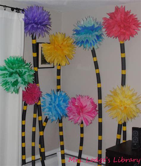Dr Suess Decorations - truffula trees mrs lodge s library