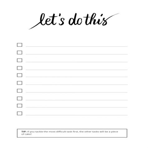to do list template printable pinterest to do list task list templates
