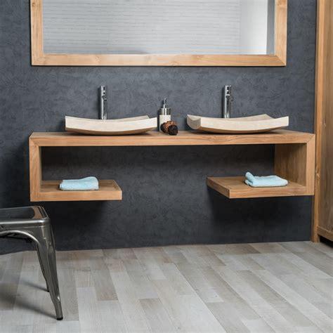 salle de bain avec meuble cuisine charmant meuble vasque pas cher avec meuble sous vasque salle de bain en teck collection