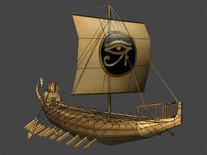 free ancient egyptian ship 3d model