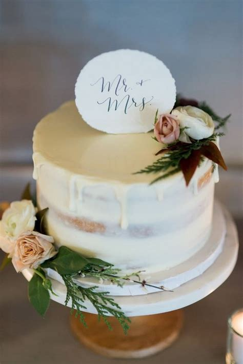 pretty single layer wedding cakes   trends