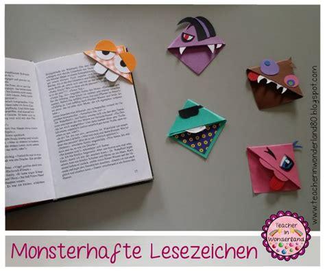 lesezeichen basteln grundschule in monsterhafte lesezeichen kunstwerke grundschule abs