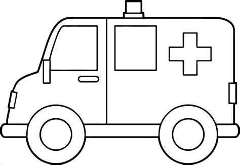 ambulance coloring pages coloringbay