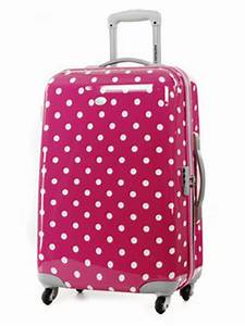 Valise Enfant Fille : valise rigide 4 roues american tourister lollydots 67 cm pas cher ~ Teatrodelosmanantiales.com Idées de Décoration
