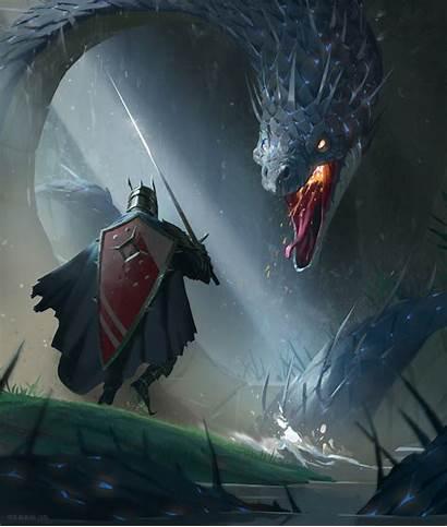 Fantasy Knight Dragon Degen Maximilian Concept Portfolio