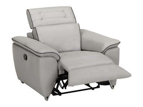 canapé et fauteuil relax canapé et fauteuil relax en cuir cardinal coloris gris