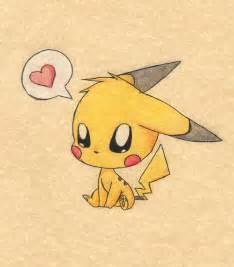 Cute Chibi Pokemon Pikachu Drawings