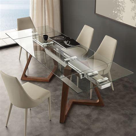 tavoli di vetro tavolo allungabile legno e vetro tavoli allungabili da
