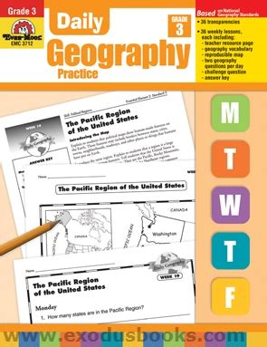Daily Geography Practice Grade 3  Exodus Books