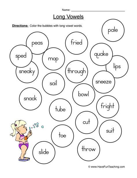 vowel worksheets page 7 of 11 teaching