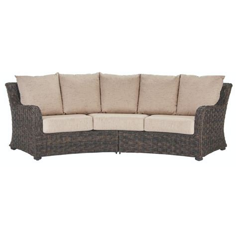 home depot sofa home decorators collection gordon brown leather sofa