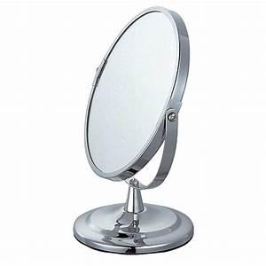 Miroir Sur Pied : miroir sur pied m tal chrom 17cm ~ Teatrodelosmanantiales.com Idées de Décoration