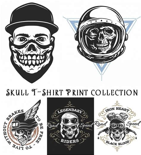 skull  shirt print collection