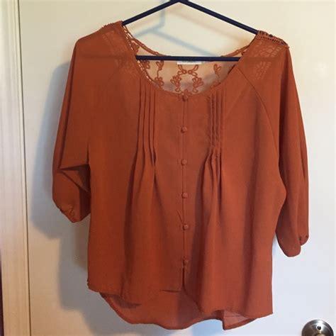burnt orange blouse 63 pepper tops pepper burnt orange blouse