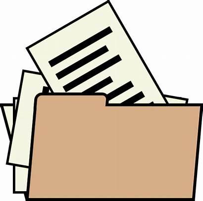 Clipart Folder Document Clip Important Office Transparent