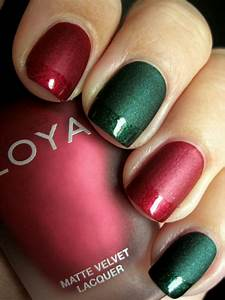 Red and green christmas nails favnails