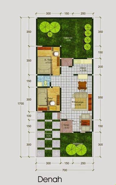denah rumah minimalis type   gambar desain model