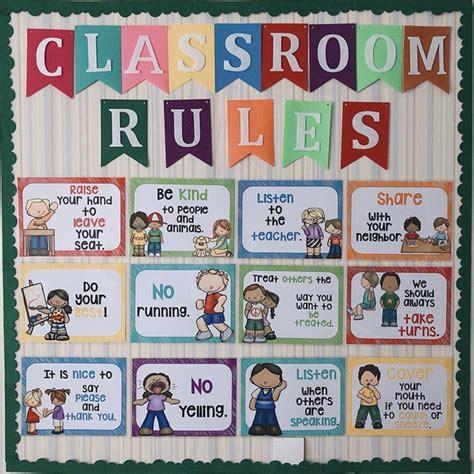 pcsset classroom rules kindergarten wall decoration english poster  plastic seal big cards