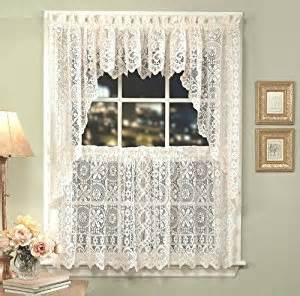 amazon com hopewell lace kitchen curtain 24 quot tier pr