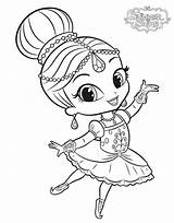 Shimmer Shine Coloring Pages Printable Enchantimals Mermaid Ballerina Sheets Print Books Printables Poppy Story Cartoon Already Cute sketch template