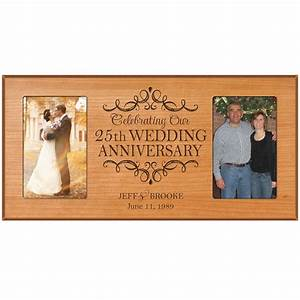 Personalized 25th 4x6 anniversary wedding gift picture for Personalized gifts for wedding