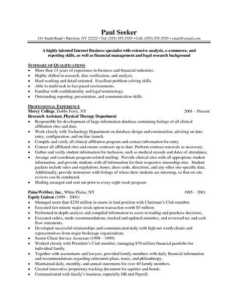 resume summary exle 8 sles 28 images resume in retail