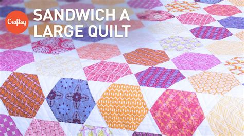 easy   baste sandwich  large quilt quilting
