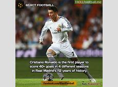 FACT CR7 is the first player to score 40+ goals in 4