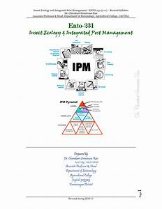 Insect Ecology and Integrated Pest Management (Ento-231 ...